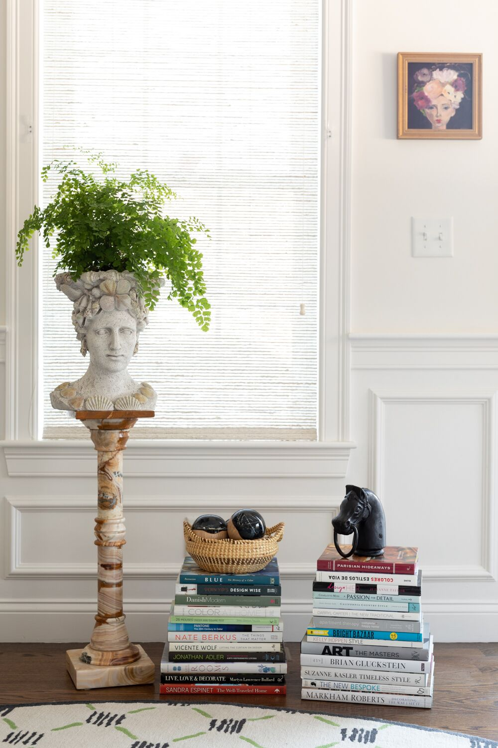 head with fern and design books