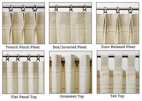 drapery pleat schematic