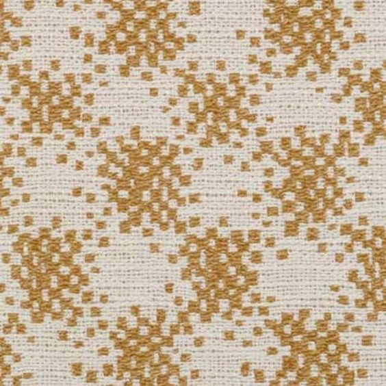 Duralee gold and white checked fabric