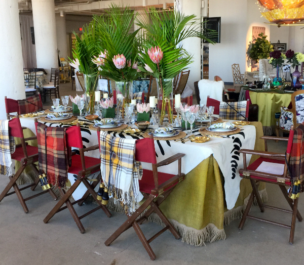 Safari Style table setting for Heading Home to Dinner Charity event