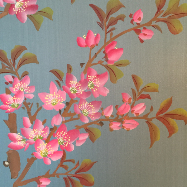 Fromental hand painted wallpaper: Linda Holt Photo