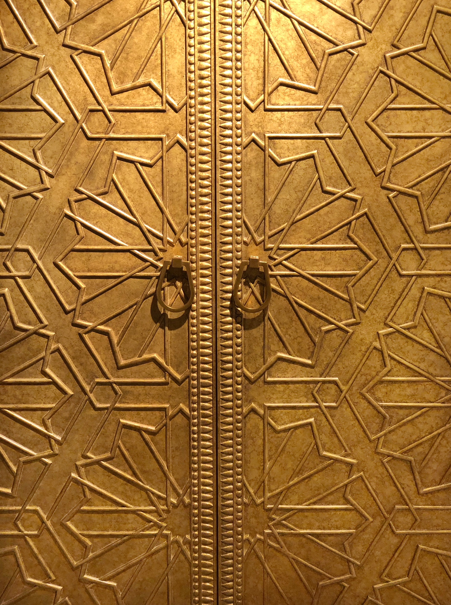 geometric design brass cabinet