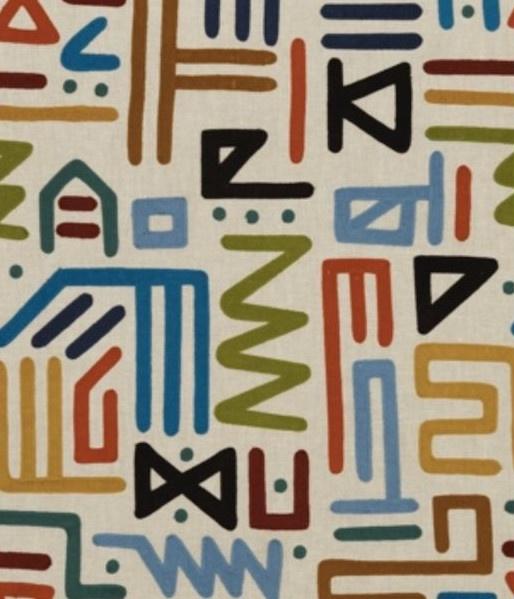 colorful geometric fabric