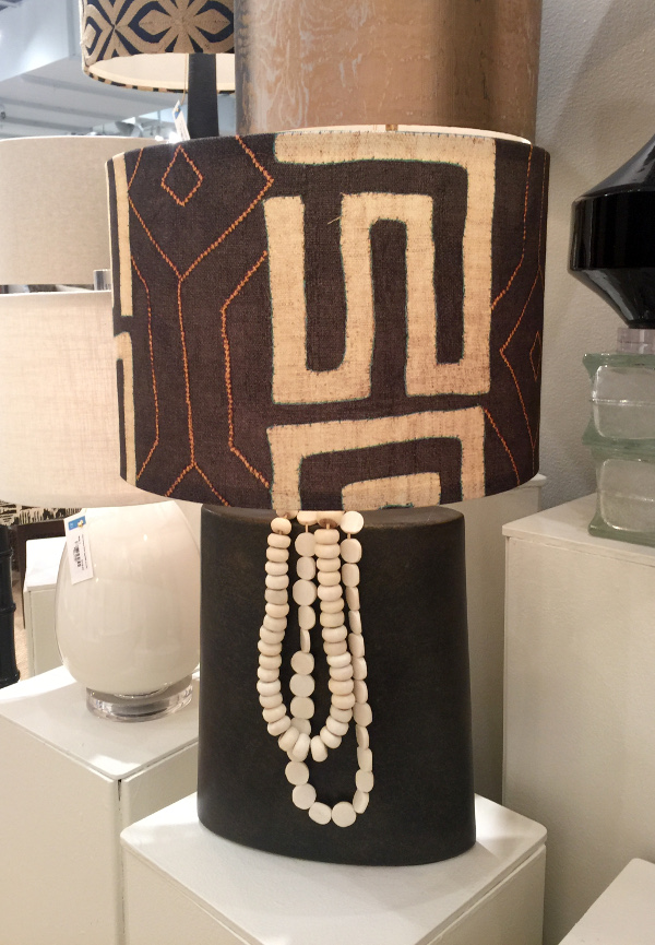African tribal inspired lamp shade