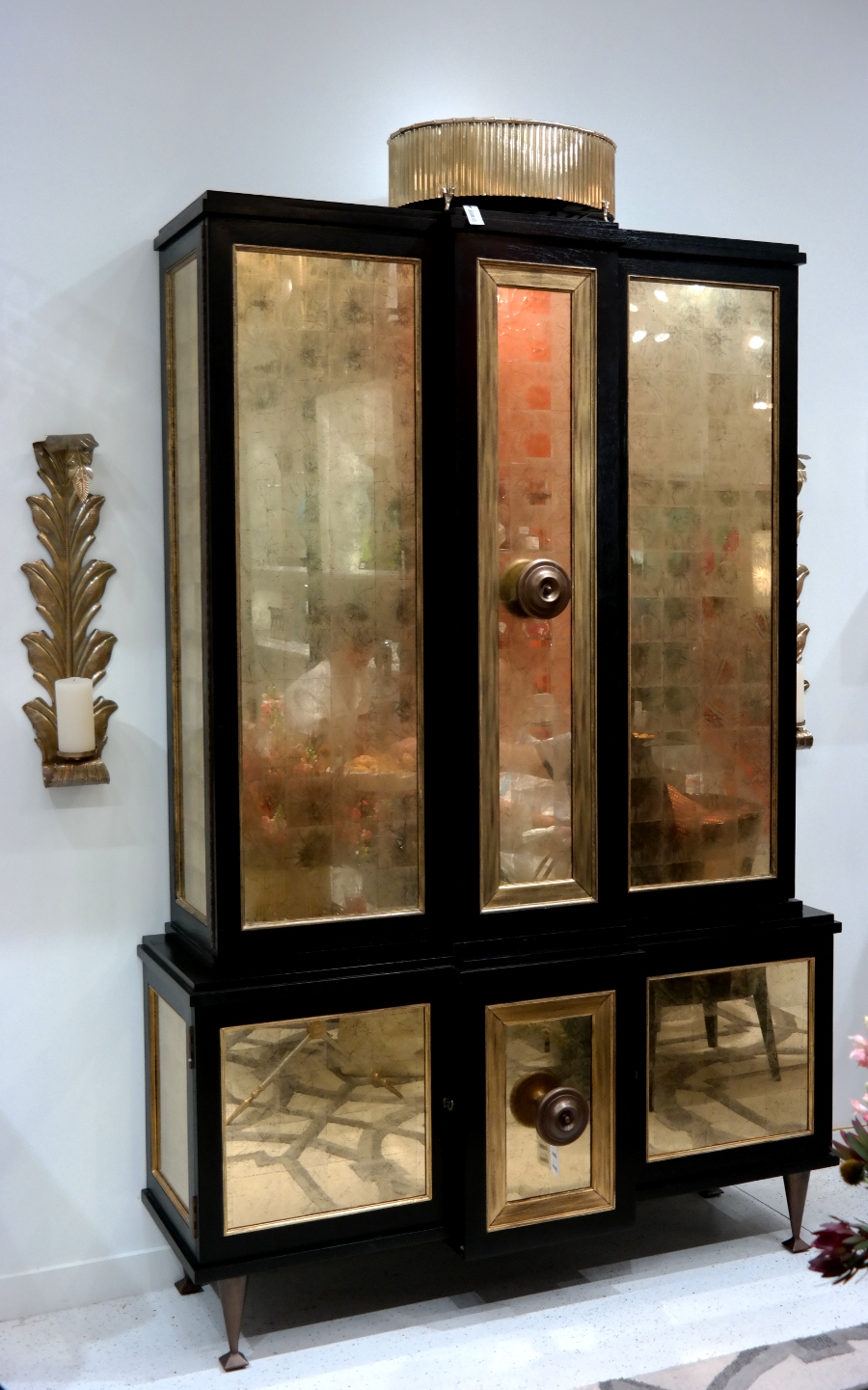 Gold armoire from Global Views
