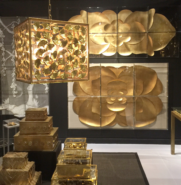 gold lighting art work and accessories are trending