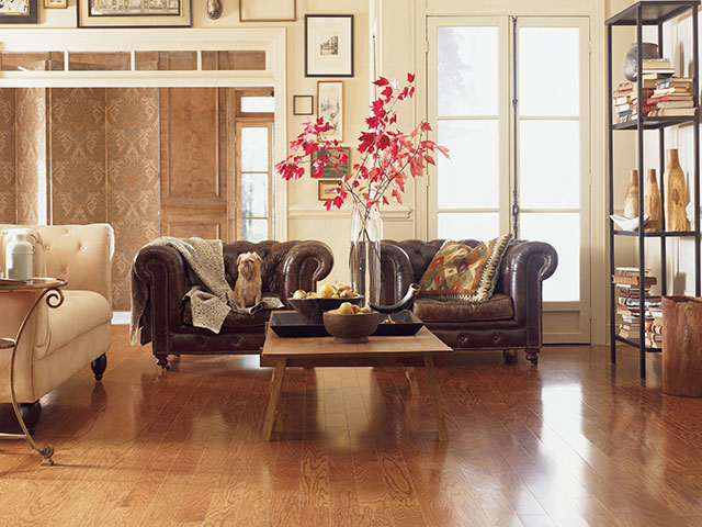 Timeless Mid brown hardwood floor by Mohawk