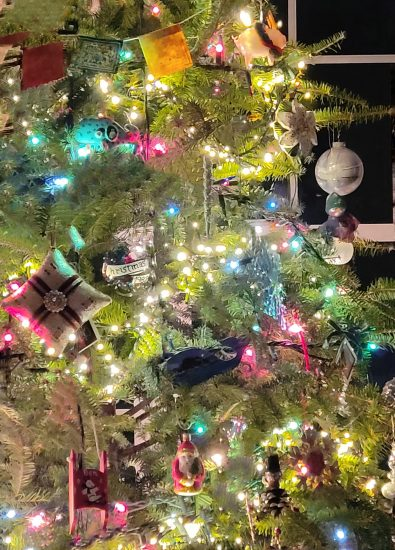 How to photograph a Christmas tree at night