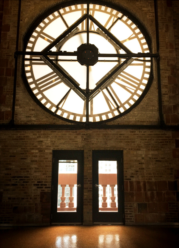 Inside the Clock Tower at the Whirlpool headquarters