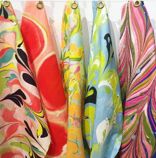 Jill Seale marbleize fabrics