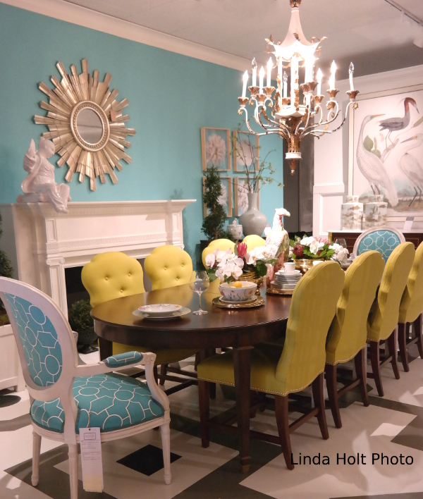 Friday's Photo: Turquoise and yellow dining room