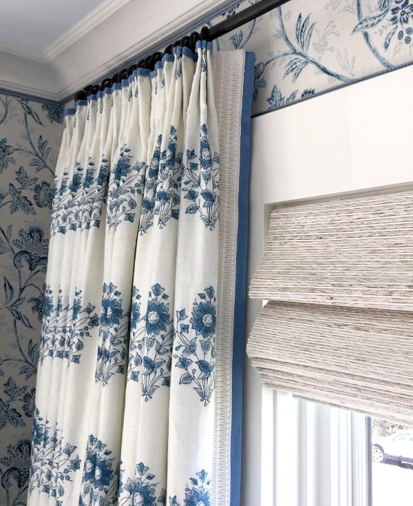 drapery panel with trim