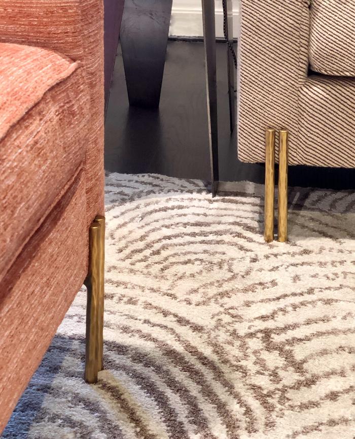 metal legs on sofa