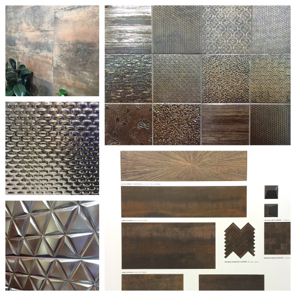 Metallic inspired tile trends