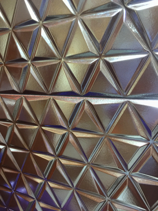 3-D metallic tile trend