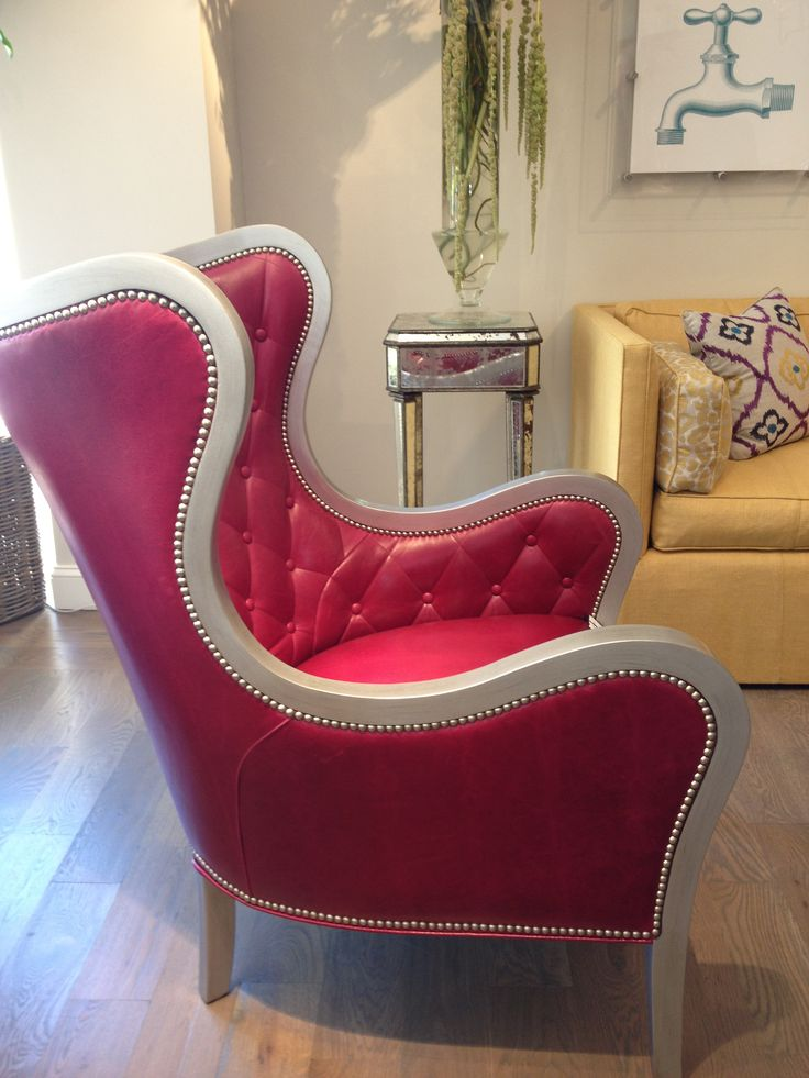 Hot pink and silver chair