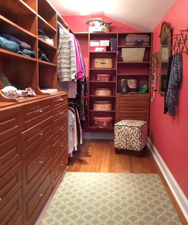 My lucky red Feng Shui closet