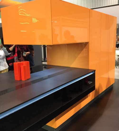 orange cabinets by Bauformat
