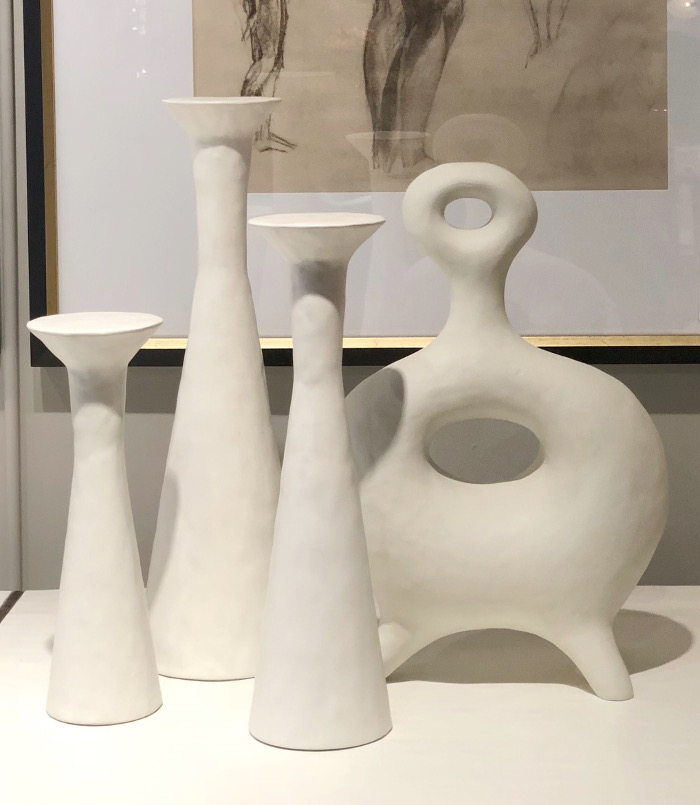 white plaster objects