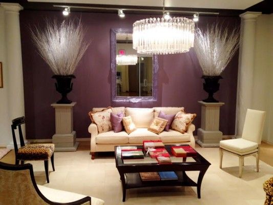Which wall is best for a painted accent wall visit linda holt creative website Purple accent wall in living room