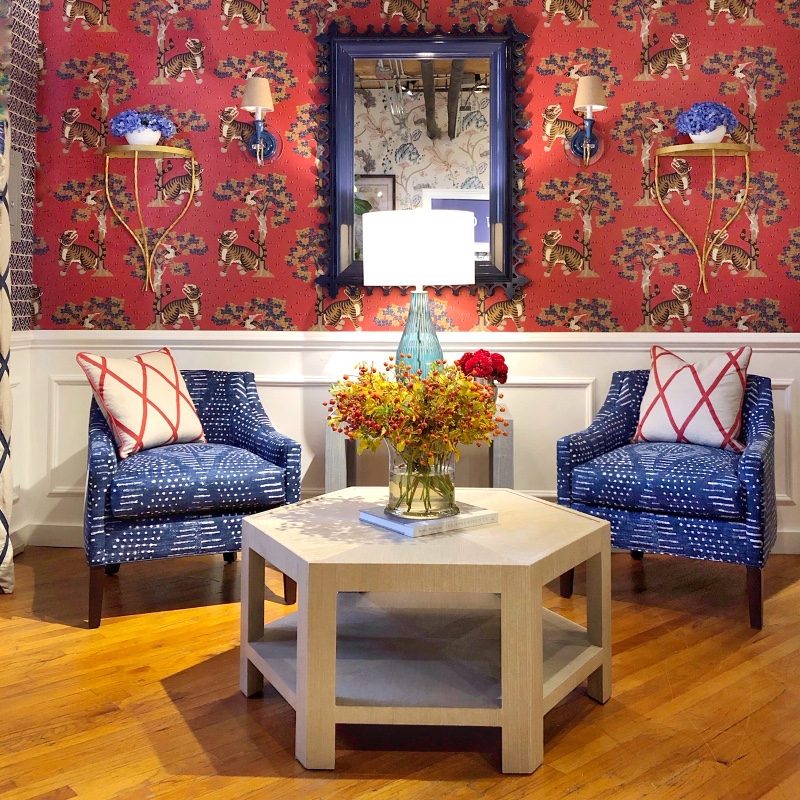 red and blue at Thibaut