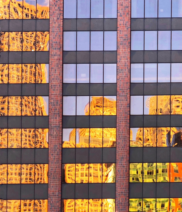 reflections in building after using editing crop tool