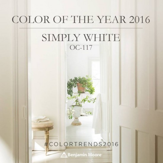 Benjamin Moore color of the year Simply White