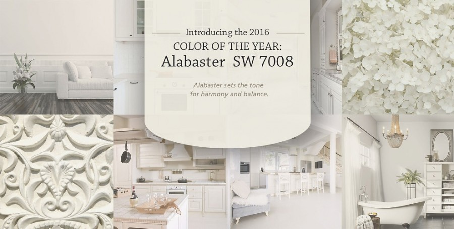 Sherwin Williams Color of the year Alabaster