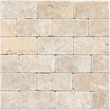pinky beige tumbled travertine