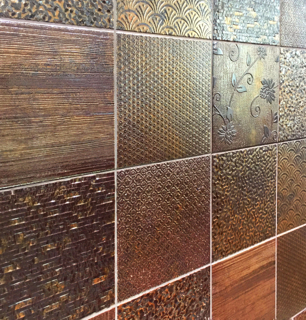 Metallic tile trend copper