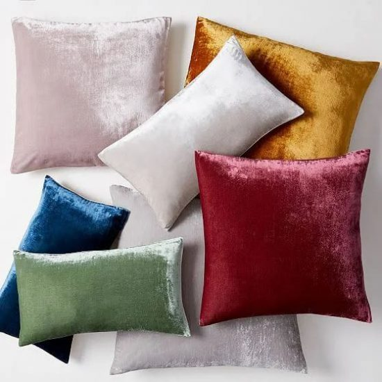 velvet West Elm pillows