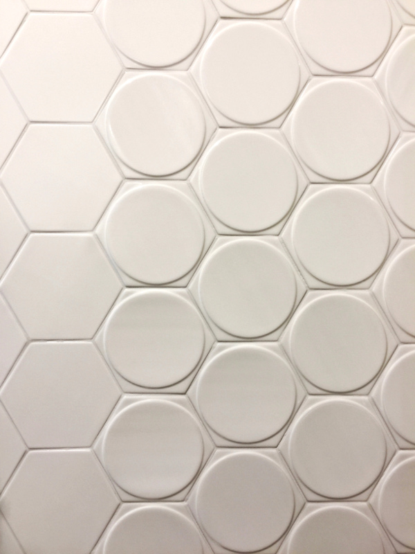 white textured geometric tile trends