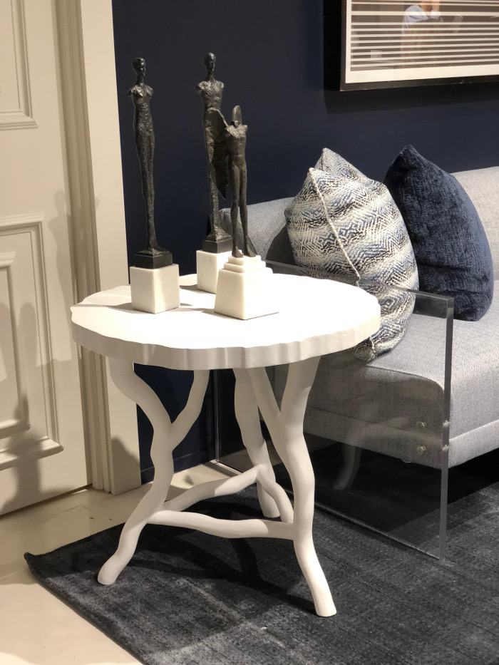 white plaster table