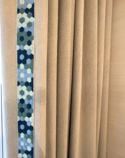 winow panels with decorative trim