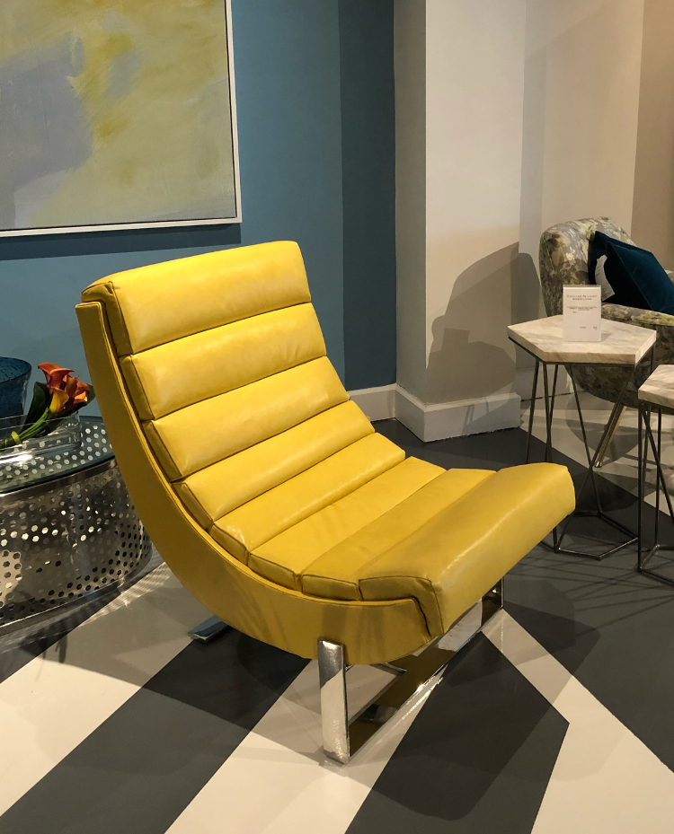 yellow leather chair color trends