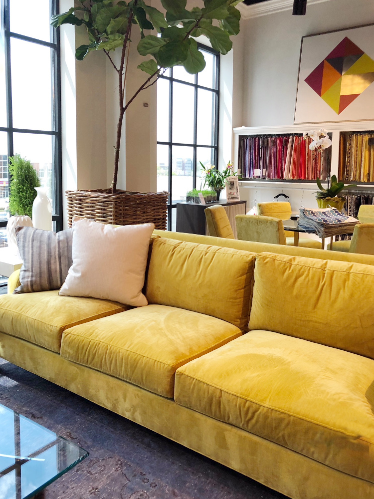 color trends yellow sofa